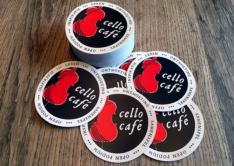 Cellocafé stickers